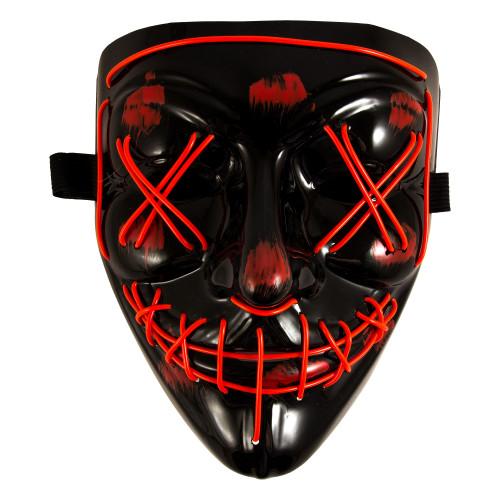 Светящаяся неоновая маска