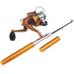 Складная удочка с катушкой Pocket Pen Fishing Rod