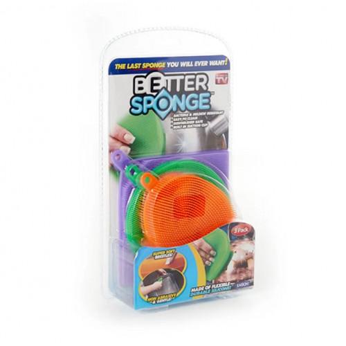 Силиконовые губки для мытья посуды Better Sponge